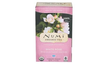 NUMI ORGANIC TEA HERBAL TEA, WHITE ROSE ( 6 - 16 BAG )