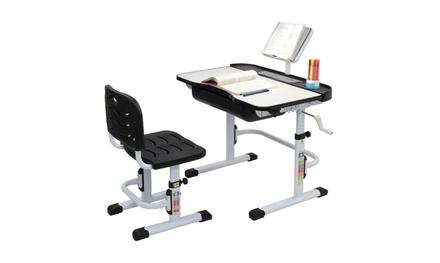 Student Desk and Chair Set Adjustable Child Study Furniture Storage