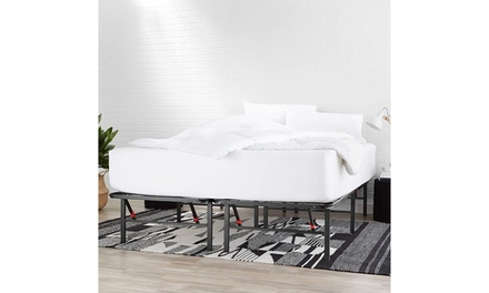 Foldable Metal Platform Bed Frame for Under-Bed Storage - Tools-Free Assembly Was: $500 Now: $119.99.