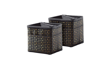 Carson Dellosa CD-158184 Tabletop Storage - Black with Gold Arrows Pocket