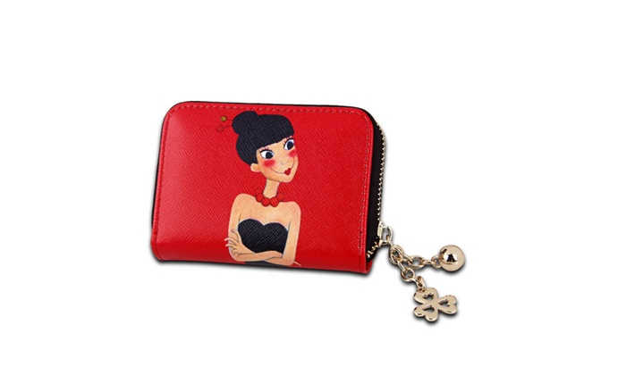 Genuine Leather RFID Blocking Credit Card Holders Cartoon Organ bag