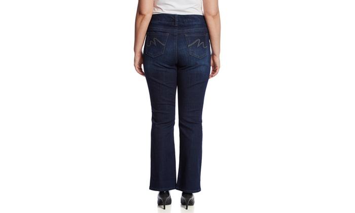 fb6acbcb11f59 MELISSA MCCARTHY SEVEN7 Gordon Wash Slim Boot Cut Jeans