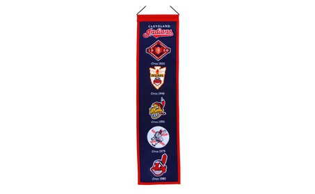 Cleveland Indians Heritage Wool Banner cdbbf828-7c96-46da-acbc-8602c5cb0319
