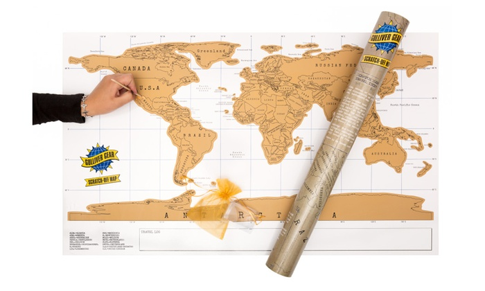 Scratch off world map relive precious memories great gift groupon scratch off world map relive precious memories gumiabroncs Image collections