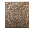 Gold Patina Floral Wall Medallion