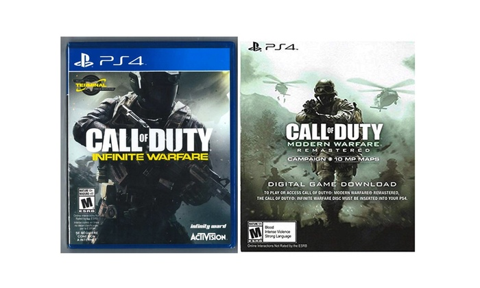 PS4 Call of Duty Legacy Edition:Modern Warfare DL & Infinite Warfare  Spanish Pkg