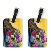 Carolines Treasures SS8536BT French Bulldog Luggage Tag - Pair 2 4 x 2.75 In.