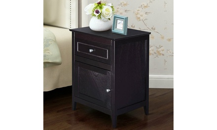 End Table Nightstand Living Room Furniture Espresso Beechwood