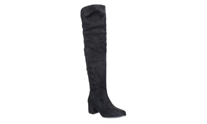 Beston FF00 Women's Over The Knee Mid High Block Heel Boots