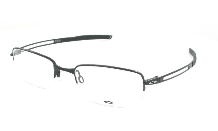 74b9d45da2f Oakley Frag Rectangular Men Eyeglasses OX5045-01 53 Polished Black  OX5045-01 53 Polished Black Frame   Demo Lenses