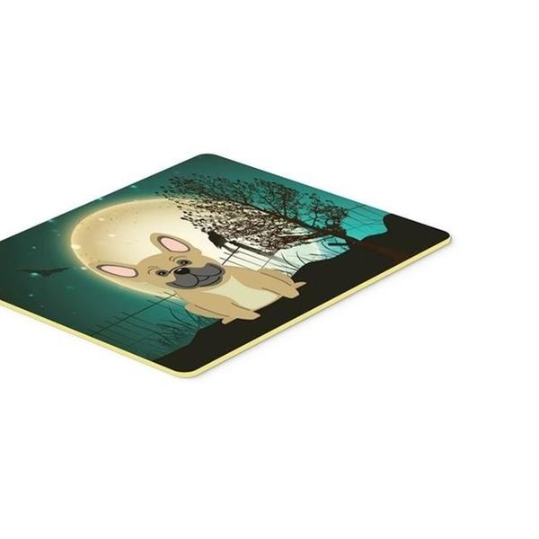 Multicolor Carolines Treasures BB2200JCMT Halloween Scary French Bulldog Cream Kitchen or Bath Mat 24 x 36