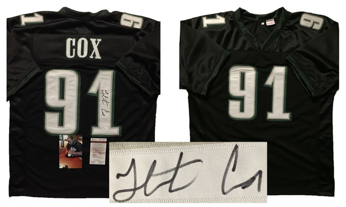 meet 06baf 83c16 Autographed/Signed Fletcher Cox Philadelphia Eagles Jersey ...