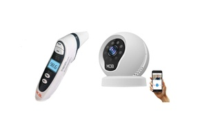 Baby Monitor & Baby Thermometer - MobiCam Baby Monitor & DualScan Thermometer