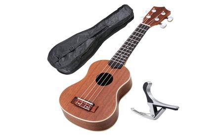 """21"""" Concert Ukulele Guitar 4-String Musical Instrument Sapele Wood 4bc85da1-8e3c-4f9d-9968-a01c4709e1e9"""