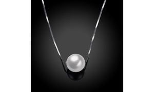 10mm Genuine Cream Cultured Freshwater Pearl 925 Sterling Silver