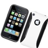 Insten Dual Layer Hybrid Tpu Rubber Candy Case For Iphone 3g/3gs White