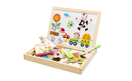 Wooden Drawing board Farm Jungle Animal Toys Magnetic Puzzle 77512491-6f7f-4a05-93a8-f8174eea4316