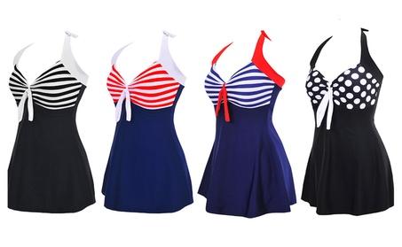 Plus Size Retro One Piece swimsuit c95f9af0-4a7f-4186-be54-e47868c58093