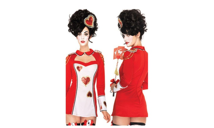 Women's 3pcs Sweetheart Policewoman Cosplay Costume - Red / one size