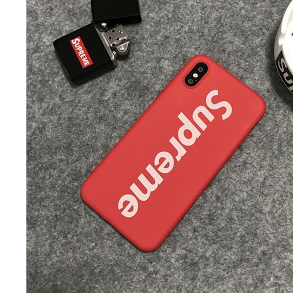 Up To 40% Off On Red Or Black Supreme Case For    | Groupon Goods