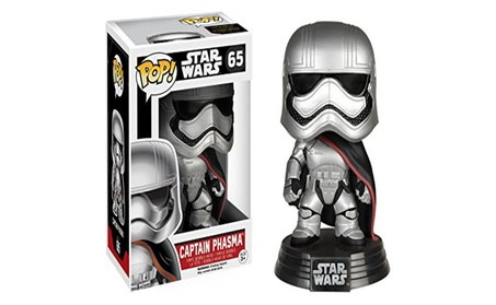 Captain Phasma: POP! x Star Wars Vinyl Bobble-Head Figure w/ Stand - silvery 871bd675-6993-4057-b323-aa02645c0667