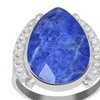Orchid Jewelry Rhodium Plated 925 Silver 7 1/7 Carat Sodalite Ring