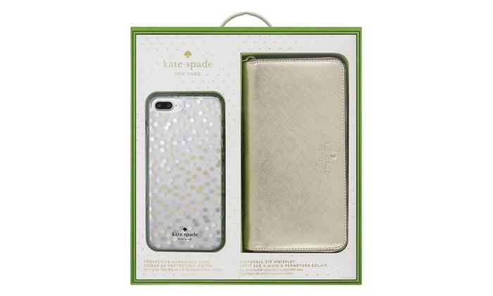Kate Spade Universal Zip Wristlet And IPhone 8 Plus Case Gift Box Set
