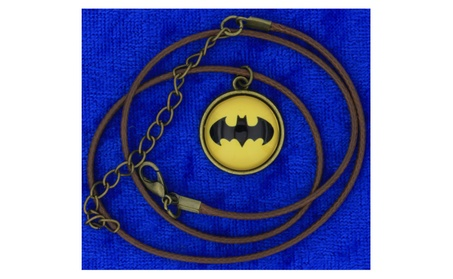 Batman Crest Necklace Bat Symbol Cabochon Superhero Movie Inspired faae1443-e76e-421b-a6b2-4275fa556684