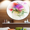 Bunch of Colorful Orchid Flowers' Large Flower Metal Circle Wall Art