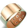 30mm Width Wrap Adjustable Cool Leather Women's Bracelet