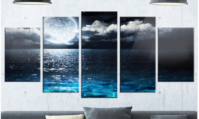 Up To 27% Off on Romantic Full Moon Over Sea -... | Groupon Goods