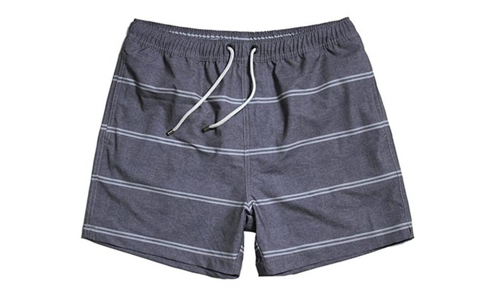 Men's Sports Swim Shorts with Pocket,Mesh Lining