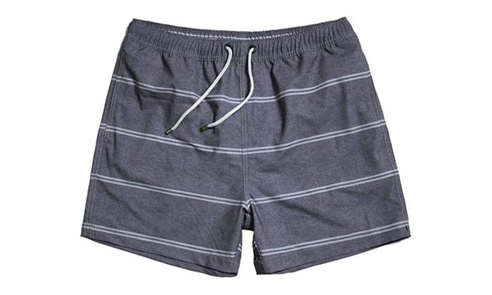 Men's Sports Swim Shorts with Pocket,Mesh Lining