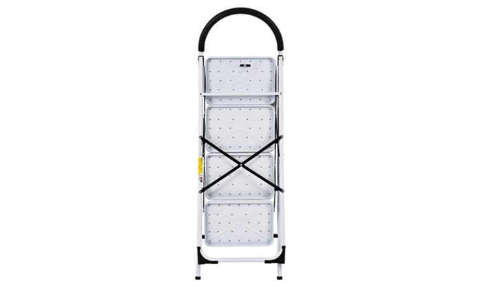 Enjoyable 4 Step Ladder Folding Stool Heavy Duty 330Lbs Capacity Industrial Lightweight Pabps2019 Chair Design Images Pabps2019Com