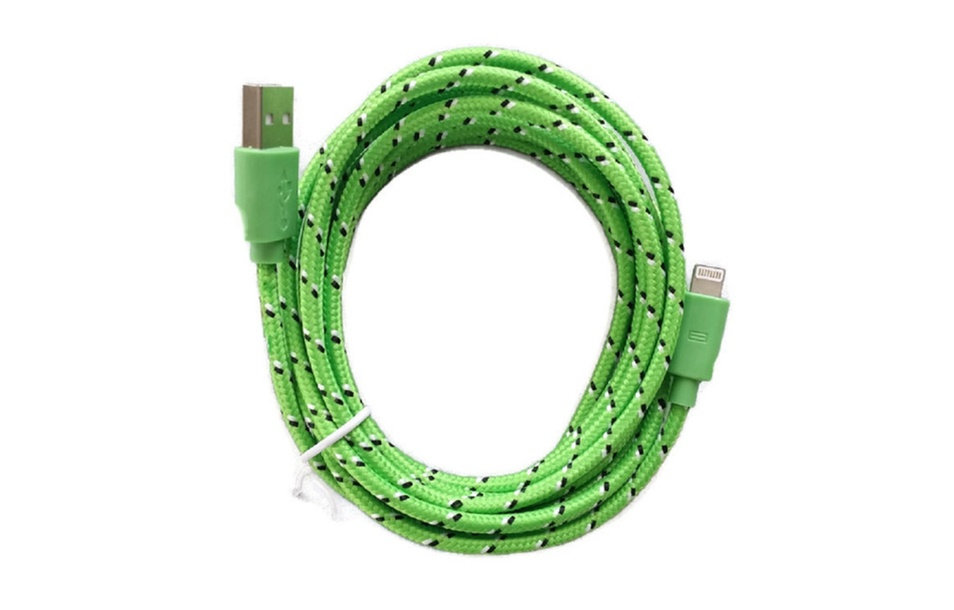 Apple iPhone 6 6S 6+ 6S Plus 5 5S 10Ft Long Braided USB Charger Cable
