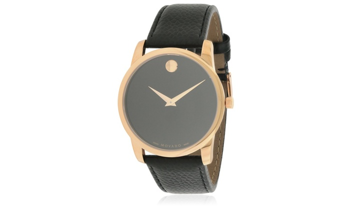 04a3d478b Movado Museum Classic Leather Mens Watch 0607060 | Groupon