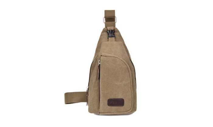 SHINA Canvas Unisex Sling Chest Bag Shoulder Crossbody Backpack