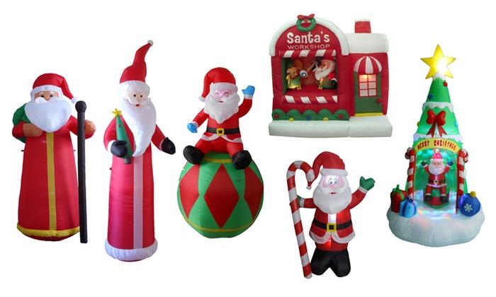 inflatable santa claus decorations