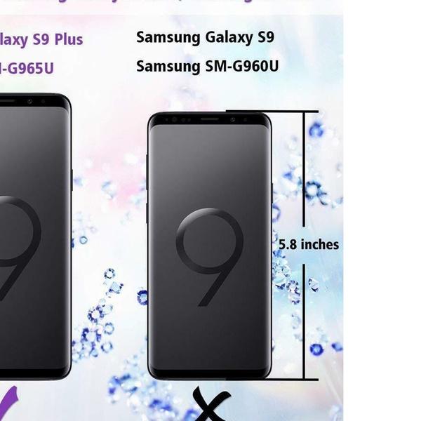 3 Protector de Pantalla Cristal Vidrio Templado Solo Para Samsung Galaxy  S9/S9