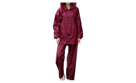 QZUnique Men's Lightweight Ripstop Waterproof Packable Raincoat 8ff9719e-8257-44c9-9457-6e577f5176e5