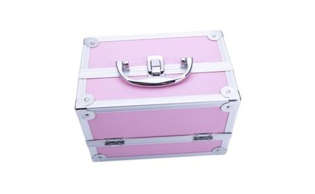 Aluminum Makeup & Jewelry Train Case Lockable Cosmetic Case 2f78fdb1-dcb0-4af8-b94f-780b6fe8a841