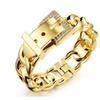 Dazzle CZ Paved Clasps Belt Buckle Women Bracelet
