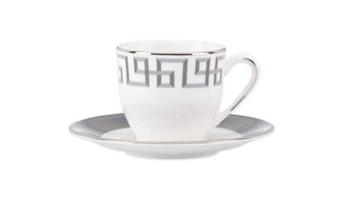 Silver Dinnerware Cup Saucer Set 6 Oz