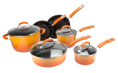 Rachael Ray Hard Enamel Nonstick 10-Piece Cookware Set be26b8ba-e0a2-4e9f-a2dc-ceb114c34065