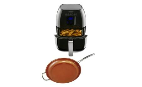 "NuWave Brio Healthy Digital Air Fryer w/ 12"" Ceramic Fry Pan 94d28160-3935-40c3-9a91-b11c7cef0dca"