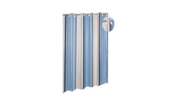 Carnation Home Fashions EZ ON PEVA Stripes Shower Curtain