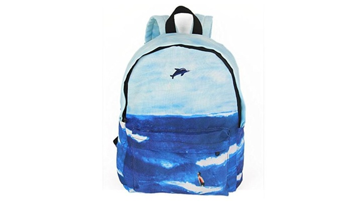 Orota landscape printer Casual cool canvas backpacks for teens Schoolbag Travel Bag