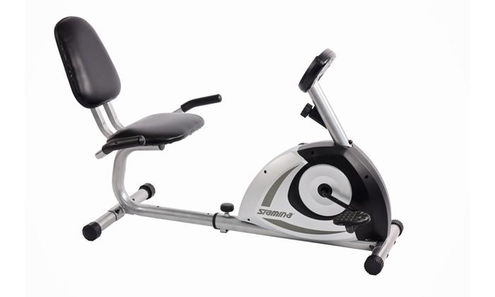 Stamina Magnetic Recumbent Bike | Groupon