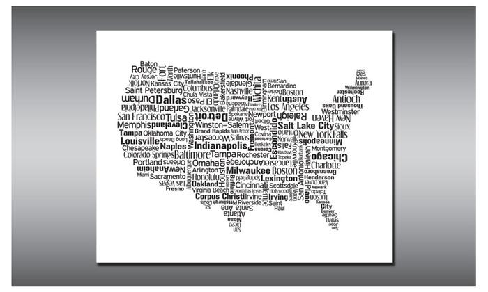 United States Map US Map USA Map United States Print USA Art