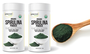 Grass Root Naturals Spirulina Powder Dietary Supplement (1- or 2-Pack)